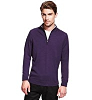 2in Longer Autograph Pure Merino Wool Zipped Jumper