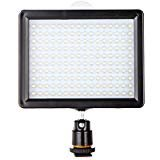 Andoer 160 LED Video Light Panel,Rechargeable Lamp 12W 1280LM Dimmable for Canon Nikon Pentax DSLR Camera Video Camcorder