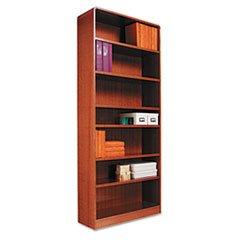 * Radius Corner Bookcase, Wood Veneer, 7-Shelf, 35-3/8 x 11-3/4 x 84, Me