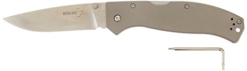 Boker Plus 01BO188 Titan Drop Knife with 3-3/4 in. Straight Edge Blade, Steel