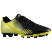 adidas Men's Predito LZ TRX FG Soccer Shoe,Black/Lab Lime/Metallic Silver,12 D US