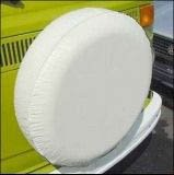 Spare Tire Cover Vinyl Polar White with Innerliner Fits All 27