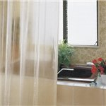Freelance Bubble Shower Curtain - Clear