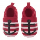 Cute Comfort Pu + Cotton Baby Shoes - Black + White + Red (0~6 Months / Pair)