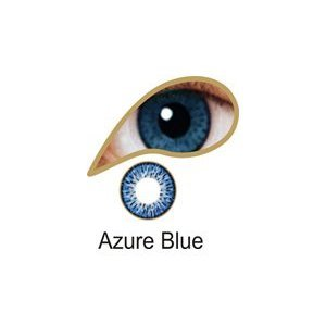Coloured Contact Lenses with Free Solution and Case - Azure Blue (1 Month)