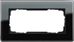 Gira Rahmen 2fach ohne Mittelsteg Esprit Glas C Schw 1002505