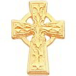 Gold Plated Celtic Cross Tie Tac