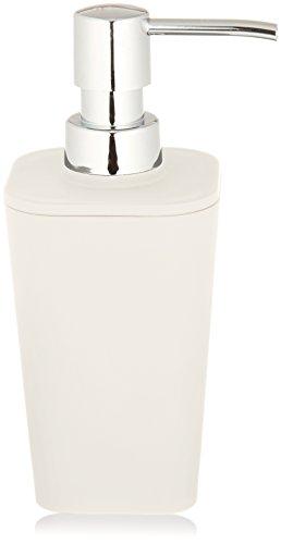 Wenko 18970100 Rainbow Dispenser per sapone liquido in plastica, 300 ml, 8.7 x 17.1 x 7.4 cm, colore: Bianco