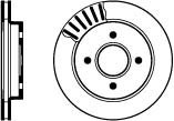 Ford Cougar 2.0L Oct/1998>Aug/2002 Rear Brake Discs