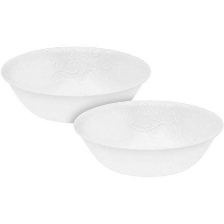 Corelle Livingware Bella Faenza 1-Quart Serving Bowl, Set of 2 (Corelle Dinnerware Set Silver compare prices)