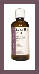 Herbal Aromatherapy Bath Oils Away Aches Pains Bottle by Herbal Choice Beauty