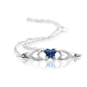 Genuine IceCarats Designer Jewelry Gift 10K White Gold Bfly Cz Birthsto Brc W/Box. September Brc W/Box Bfly Cz Birthsto Brc W/Box In 10K White Gold