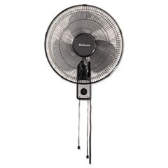 "- 16"" Wall Mount Fan, 3-Speed, Metal, Black"