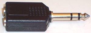 VASI4KO-Adapter Splitter 6,35mm Jackplug 2x 6,35mm Stereo presa-VASI4KO