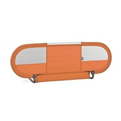 BabyHome - Side Baby Bed Rail | Nursery Safety Rail Mesh w/ Straps - Orange
