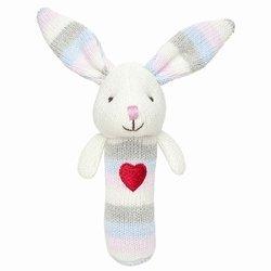 Elegant Baby Bunny Squeaky Rattle