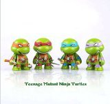 Kibby Cute Ninja Turtles Miniature Figures Set of 4 Mini Collection Model Ornaments
