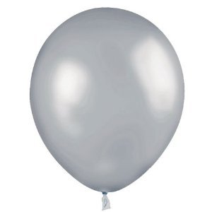 "100 Count 11"" Latex Balloons Silver by Gayla"
