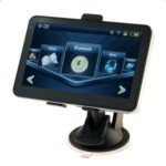 5.0-inch Touch Screen Bluetooth GPS Navigator with Hungary Map(Black)
