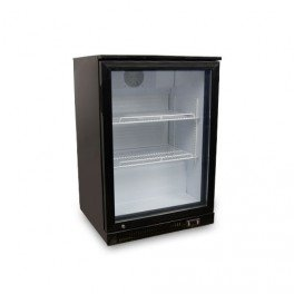 Frigo-de-bar-professionnel-skinplate-noir-1-porte-vitre-115-litres-230v-neuf-equipementpro