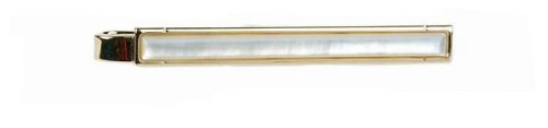 Gold plated and mother of pearl tie slide with presentation box