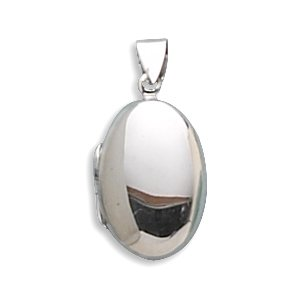 Small Oval Polished Locket