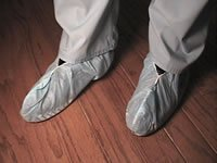 Medical Booties/Shoe Covers: Blue, universal up to mens size 10 Case of 300
