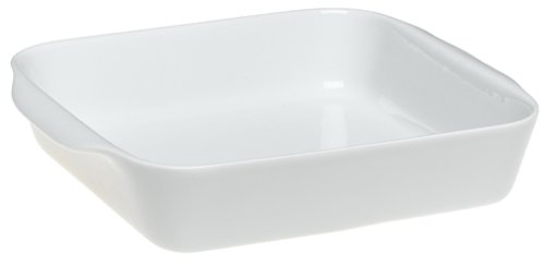 Pillivuyt Porcelain 2-Cup Square Baker, Small - 5-1/2-Inch