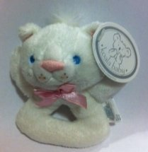 Koala Baby White Kitty Cat Rattle - 1