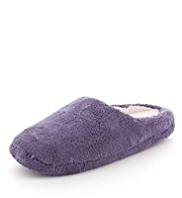 M&S Collection Micro Towelling Mule Slippers