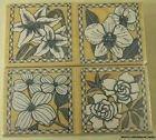 Les Fleurs Wood Mounted Rubber Stamp Set (LL552)