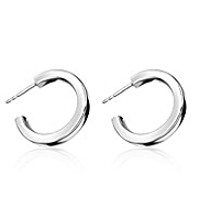 M&S Collection Finest Sterling Silver Hoop Earrings