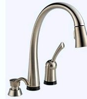 Delta 980T-SSSD-DST Pilar Single Handle Pull Down Kitchen Faucet With Touch20 Te