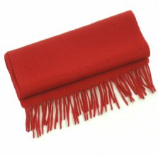 Plain Unisex Red Cashmere Scarf/ Pure Cashmere Scarf image