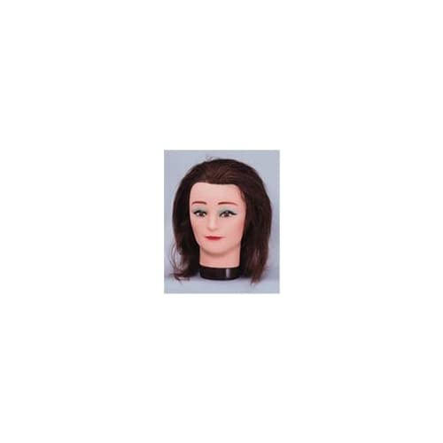 Hairart Mannequin with Human Hair in Brown 14 long #4114a