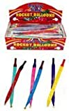 Box of 72 packs of 2 rocket / whizzer balloons (144 balloon in total)