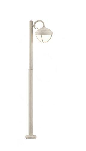 Trio Leuchten LED Außen-Wegeleuchte, Aluminiumguss, inklusiv 6 W, Höhe 110 cm, weiß antik 420660101