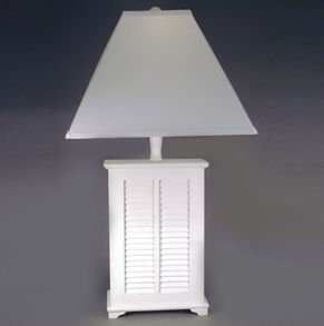 Judith Edwards 1670WT White Shutter Table Lamp