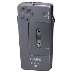 Philips LFH0388 Professional Pocket Memo, Black