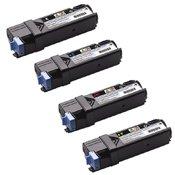 Lot Complet Compatible de 4 Toners Haute Capacité - pour Dell 2150/2155 - Offre Spéciale limitée a une par client