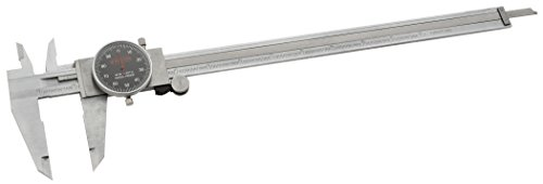 Grizzly G9282 Stainless Stee Length Dia Length Caliper with Black Face 12-Inch (Dial Caliper Grizzly compare prices)