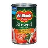 Del Monte Italian Recipe with Basil, Garlic & Oregano Stewed Tomatoes 14.5 oz (Pack of 24)