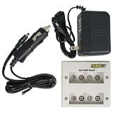 Maha Powerex 490F 4 Bank 9V Worldwide Charger with Car Adapter and 2 9V Imedion Batteries
