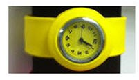 Silicone Slap Strap Watch- Childrens Size - Yellow