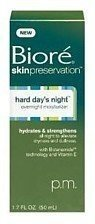 Biore SkinPreservation Hard Day's Night Overnight Moisturizer 1.7 oz.