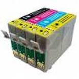 Set of Six Compatible Inkjet Cartridges 3 Black, 1 Cyan, 1 Magenta, 1 Yellow for Epson stylus Photo R240 R245 RX420 RX425 RX520