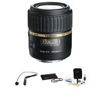 Tamron Sp 60Mm F/2 Di Ii 1:1 Macro Af Built-In Motor Lens Kit, For All Nikon Digital Cameras With Tiffen 55Mm Photo Essentials Filter Kit, Lens Cap Leash, Professional Lens Cleaning Kit