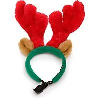 Plush Puppies Holiday Red and Green Standard Antlers - Small from Kyjen Company