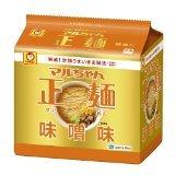 マルちゃん正麺 味噌味 5食パック 4901990510981