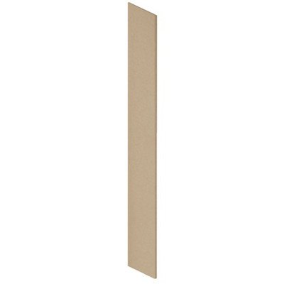 Salsbury Industries 44434Tan Side Panel For Heavy Duty Plastic Locker With Sloping Hood, Tan Brown front-455925